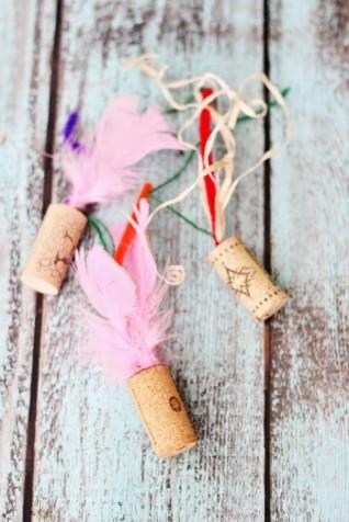 Wine Cork Cat Toy