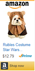 ewok costume, dog, star wars, amazon, cheap